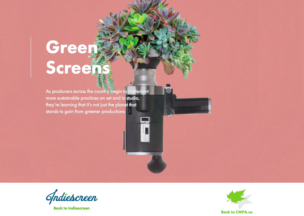 CMPA Covers Green Production In The Latest Issue Of Indiescreen